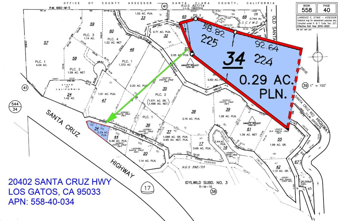 20402 Santa Cruz HWY , LOS GATOS, Vacant Land / Lot,  for sale, George Nowicki, Realty World - Dominion